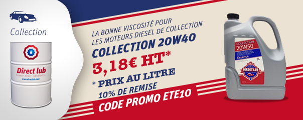 Huile moteur voiture collection